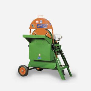 wheeled forestry debarker