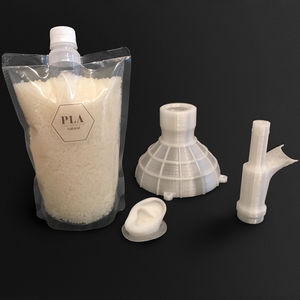 PLA 3D printing pellet / white