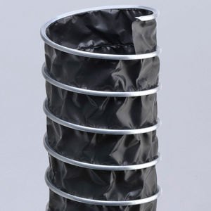 flexible air duct / fabric / galvanized steel / spiral