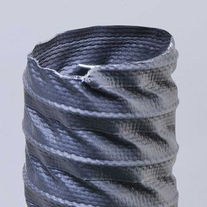 flexible air duct / fabric / polyester / thermoplastic