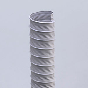 flexible air duct / fabric / PVC-coated / polyester