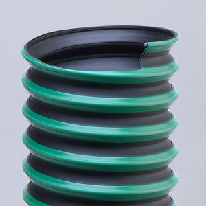 flexible air duct / thermoplastic / rubber / fume extraction