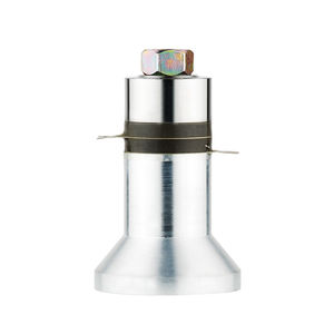 radial ultrasonic transducer / direct-contact / piezoelectric / for tank cleaning