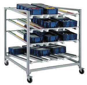 storage warehouse shelving / light-duty / box / dynamic