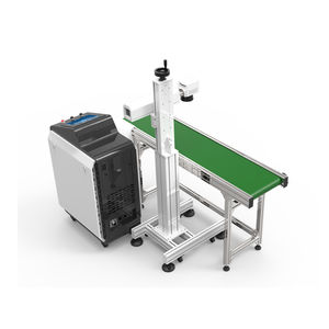 fiber laser marking machine / with touch screen / stainless steel / with conveyor