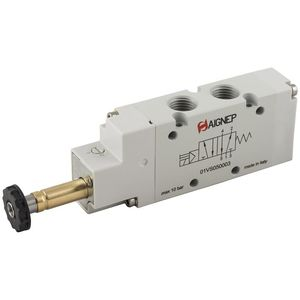 spool pneumatic directional control valve / solenoid-operated / 3/2-way / 5/2-way