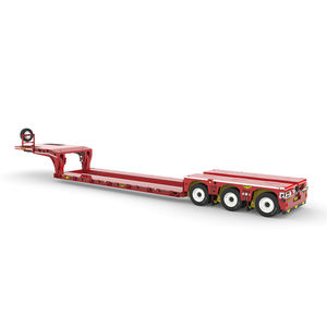 3-axle semi-trailer / gooseneck / low-loader / compact