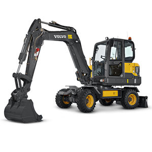 mini excavator / wheeled / diesel / construction