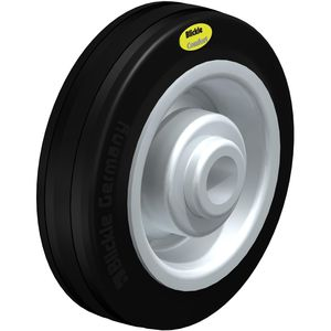 wheel with solid tire / steel / low-noise
