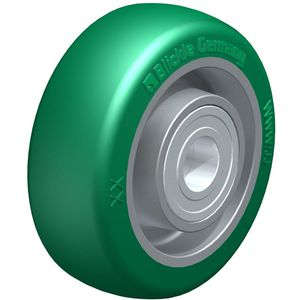wheel with solid tire / polyurethane / elastomeric / for heavy loads