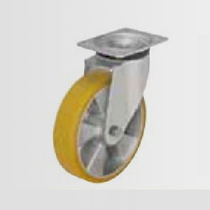 swivel caster / base plate / ball bearing / solid