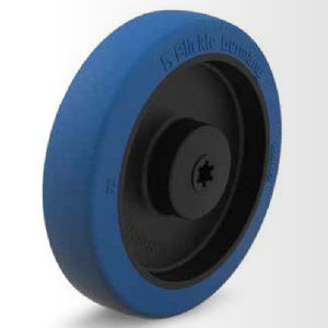 wheel with solid tire / polyurethane / for food / low-noise