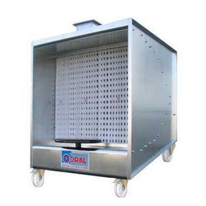 open paint booth / for parts / dry filter / mobile