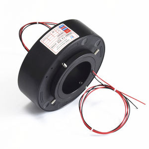 hollow-shaft slip ring / for rotary tables / for packaging / for medical equipment