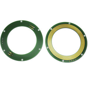 CAN bus slip ring / pancake type / for the lighting industry / miniature