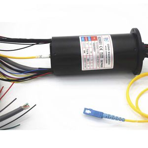 hybrid fiber optic rotary joint / for research and development / multi-channel / high-speed