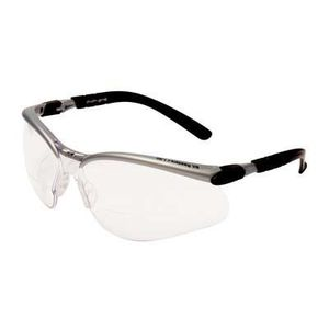 polycarbonate safety glasses / with anti-scratch coating / anti-fog coating / magnifying