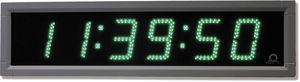 digital clock / LED / wall-mounted / double-sided