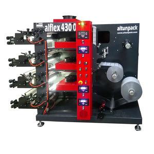 four-color flexographic press / for plastic film / carton