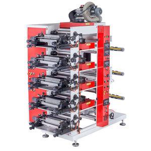 five-color flexographic press / for plastic film / for paper / carton