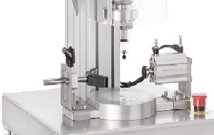 pneumatic screw capping machine / semi-automatic / for plastic bottles / for glass bottles