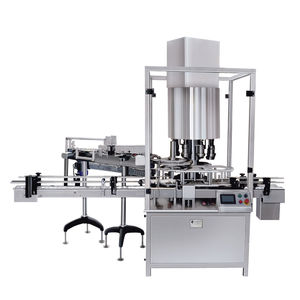 rotary capping machine / screw / continuous-motion / multi-head