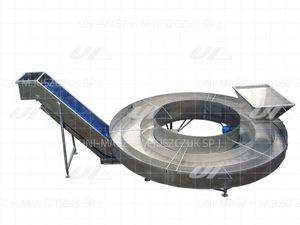 scraper conveyor / for the food industry / food / discharge