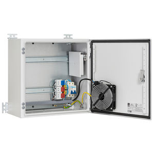 equipped electrical enclosure / wall-mounted / sheet steel / outdoor