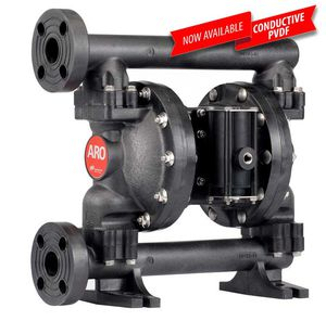double-diaphragm pump / for wastewater / for chemicals / air-driven