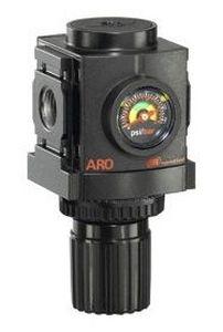 spring pressure regulator / for compressed air / single-stage