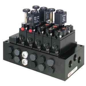 poppet pneumatic directional control valve / solenoid-operated / 3/2-way / normally closed