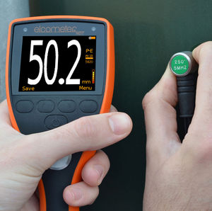 wall thickness gauge / materials / ultrasonic / handheld