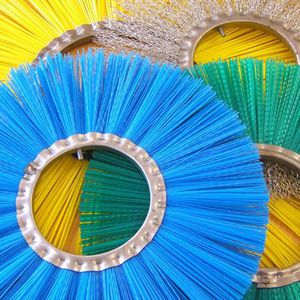 circular brush / cleaning / polypropylene / for sweepers