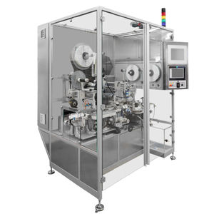 automatic labeling system / for the pharmaceutical industry / compact / vision system