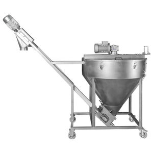 conical screw mixer / continuous / for flour / stainless steel
