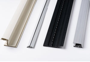 PVC profile / grooved / round / curved