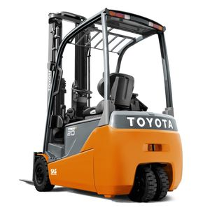 3-wheel forklift / electric / ride-on / for warehouses