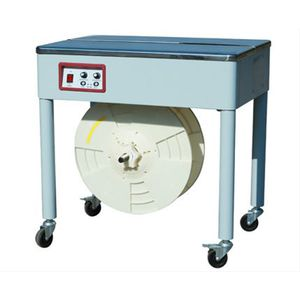 semi-automatic strapping machine / box / for parcels / metal strap