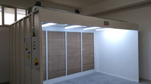 open spray booth