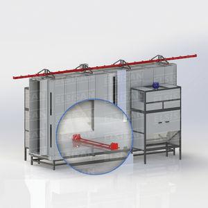 enclosed powder coating booth