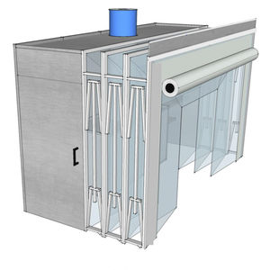 retractable paint booth