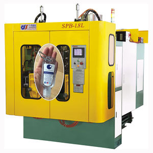 extrusion blow molding machine / for bottles / twin-station