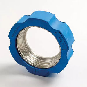 fitting nut / cylindrical / steel / rubber