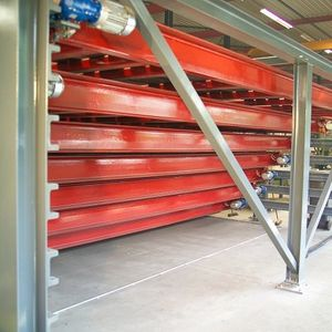 horizontal automatic storage system / compact / for large loads