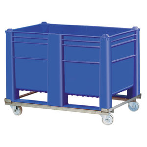HDPE pallet box / handling / stacking / on casters