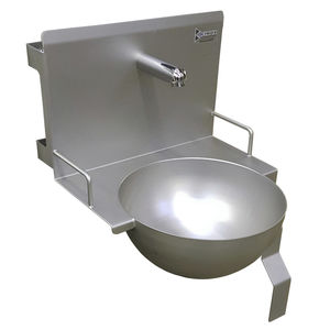 hand washing sink / for the food industry / stainless steel / hygienic