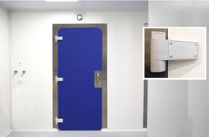 clean room doors / hinged / stainless steel / aluminum