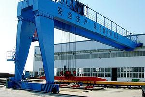 rail-mounted semi-gantry crane