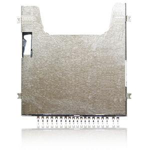 SD memory card connector / square / push-push / board