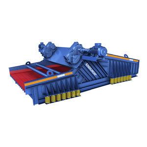 linear vibrating screener / for bulk materials / single-deck